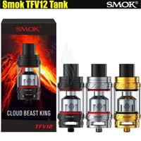Top qualité Smok TFV12 réservoir 6.0ml bête de la nuée King 350W max Sub atomiseur plus grand diamètre Delrin gouttes de goutte Smoktech Alien Mods Vapor DHL