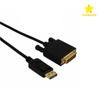 Cable DP to DVI(24+ 1) Adapter 1. 8M 6FT Male to Male Converte...