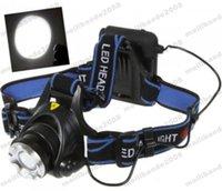 NUEVO faro impermeable del CREE T6 de la linterna del LED con la batería 18650 2 linterna principal de los cargadores LED Linterna principal que acampa la pesca MYY