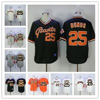 Barry Bonds Jersey #25 SFG Giants Baseball Jersey Flexbase C...