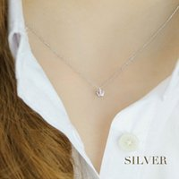 S925 Sterling Silver Crown Necklace Do not fade Prevent alle...