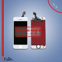 Grade A +++ No Dead Pixel pour iPhone blanc SE LCD écran d'affichage 5S Bon travail sur SE Screen Digitizer remplacement gratuit