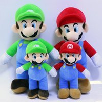 25cm Super Mario Bros juguetes muñeca muñeca MARIO LUIGI peluche relleno juguetes de peluche relleno mejor regalo PPA769
