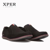 Size 40~46 Brand XPER Men Flats Shoes Slip- on Breathable Moc...