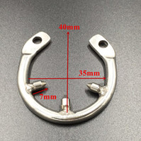 New spikes anti- off ring for chastity cage using round snap ...