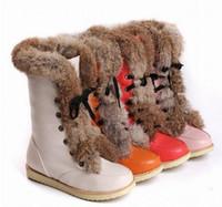 HOT Ace Up Snow Boots Brand Women' s Flat Warm Fur Boots...