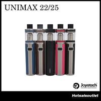 Authentique Joyetech UNIMAX 22 Starter Kit Joyetech UNIMAX 25 Starter Kit avec 3000mAh batterie 5ml E-liquide Capacité 100% Original