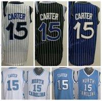Men 15 Vince Carter Jersey Throwback North Carolina Vince Ca...