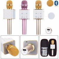 Q7 Mini Karaoke Player Wireless Condenser Microphone with Mi...