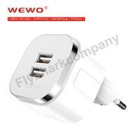 WEWO 2. 4A Mobile Phone Dual USB Portable Charger Unique shap...