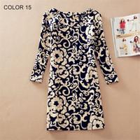 Plus Size Women Clothes Spring Fall Fashion Flower Print Wom...