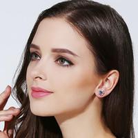 S925 Sterling Silver Clover Earrings Do not fade Prevent all...