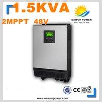 Горячее надувательство солнечный инвертор 1.5Kva 1200W с инвертора сетки 48V к 220V 40A 2 MPPT Чисто инвертор синуса инвертора 60A AC заряжатель