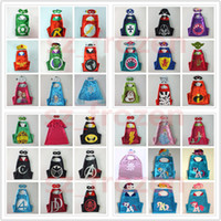 45 Styles 70*70cm Double layer Cape with Mask kids cosplay S...