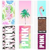Pink Sports Towel 35 * 75cm Pink Letter Beach Fitness Serviette de sport VS Bath Leopard Flower Swimwear Spa Serviette de plage KKA1433