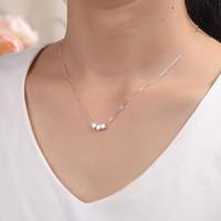 S925Silver three box clavicle necklace Do not fade Prevent a...