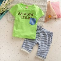 Newest 2017 Summer Baby Girls Boys Clothes Sets Cotton Infan...