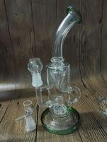 Nouveau bong tuyau d'eau tuyau d'huile dab recycler diffuseur en verre percolateur pipe fumer bongs en verre avec un clou en verre dôme