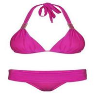 Brand New Sexy Fuchsia Women High Waist Bikini Bra Padded Bi...