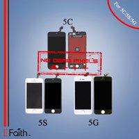No Dead Pixels Grade A +++ Écran à cristaux liquides Touch Screen Digitizer Full Assembly pour iPhone 5G 5S 5C pièces de rechange de réparation Livraison gratuite