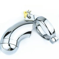 Male Chastity Device Stainless Steel Cock Cage Adult Games V...