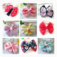 Small Girls Solid Ribbon Hair Bows With Clip Boutique Hair C...