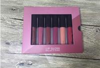 En inventaire Nouveau Maquillage Abstrait Mini lèvre Gloss set Rouge à lèvres liquide 6 couleurs Livraison DHL de haute qualité