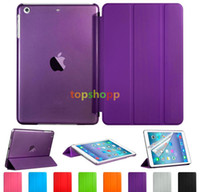 Ultra Slim Magnetic Smart Cover Clear Matte back stand case ...