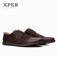 2016 XPER Brand Men Casual Shoes Lace- up Men Flats Shoes Bre...