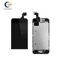 Pour l'iPhone 5S Moniteur LCD et écran tactile Digitizer + Caméra avant + bouton d'accueil + Flex cabel complète abssembly LCD complet pour iPhone 5S