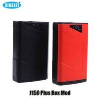 100% Original Sigelei J150 Plus Mod Mod Mod VW TC 160W Dual 18650 Battery Mod pour 510 Thread Atomizers