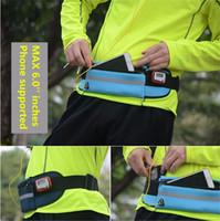6 pulgadas impermeable deporte gimnasio cinturón bolso caso neopreno corriendo bolsa de teléfono móvil para smartphone