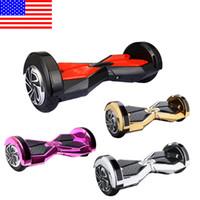 STOCK AUX ÉTATS-UNIS! 8 pouces Bluetooth Smart Balance Wheel Hoverboard deux roues Self Balance Wheel Scooter