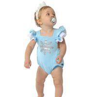 Baby Girls Snowflake Blue Rompers 2017 New Hot Newbown Ruffl...
