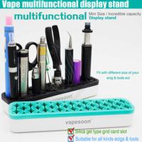 Haut Vapeur Multifonctionnel Présentoir Plastique Silicone Matériel Support pour toutes les vapeurs Mods Atomiseurs Batterie Pincette e cigarette Outils