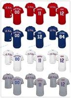 Texas Rangers Jersey 11 Yu Darvish 12 Rougned Odor 84 Prince...