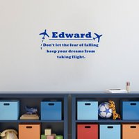 Personalized Boys Name Keep Your Dreams Quote Wall Decals fo...