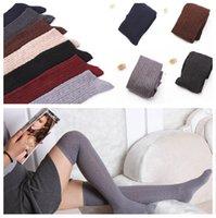 Atacado - New Meninas meias aconchegante longos meias meias personalidade meias de malha meias meias algodão quente A0556