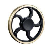 Round Wheel Hand Spinner Fidgets Fingertip Spiral Finger Spi...