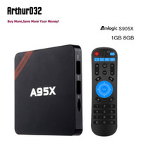 Nexbox A95X TV Box Amlogic S905X Quad Core 1G 8G WIFI Android 6.0 Set-top BOX Pré-instalado Dolby DTS Miracast DLNA Smart Media Player