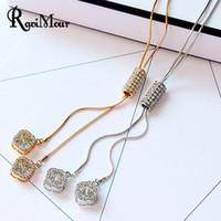 New Brand Crystal Long Necklace Women Jewelry Fashion Zircon...