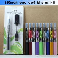 Ego CE4 Blister Kit E Cigarettes 650mah 900mah 1100mah E Cig Vaporisateur Pen 510 EGO T Battery CE4 Atomzier Clearomizer Starter Kit Packs