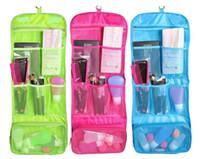 Viaje impermeable portátil colgante de tocador bolsa de las mujeres Cosméticos organizador bolsa de colgar lindo lavar bolsos maquillaje bolsa profesional