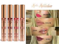 Kylie Jenner Kit de labios KOKO Kollection Juego de labios Lipgloss Kylie Cosmetics kollaboration Lápiz de labios mate de oro Gloss 4pcs Colección Towoto