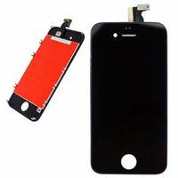 Pour iPhone 4 LCD Écran tactile Numériseur Montage Téléphone Pièces de rechange Noir Blanc LCD pour iPhone 4s Affichage