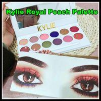 Kylie Royal Peach Palette Ombre à paupières cosmétiques Jenner Kyshadow Ombre à paupières Kit BRONZE et BURGUNDY Palette Cosmetic Livraison gratuite