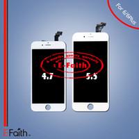 Pour Grade A iPhone 6 iPhone 6 Plus Affichage LCD blanc avec numériseur à écran tactile complet Livraison gratuite