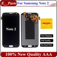 100% testé fonctionnement original écran LCD pour Samsung Galaxy Note 2 N7100 N7105 T889 i317 i605 L900 LCD digitizer Assemblée rapide Livraison gratuite