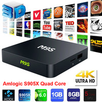 New Arrival 4K Live Box TV M9S 64 Bit 1GB 8GB S905X chip And...