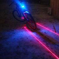(5LED + 2Laser) Велосипед света заднего света Лазер света велосипеда Велоспорт Предупреждение безопасности Велосипед аксессуары